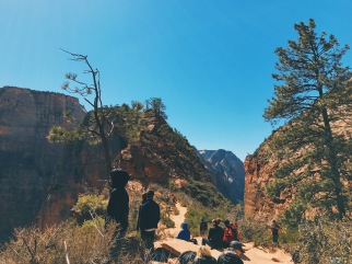 The top area/resting place of Angels Landing